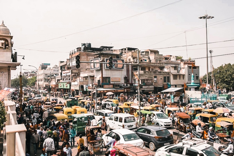 chaotic Delhi